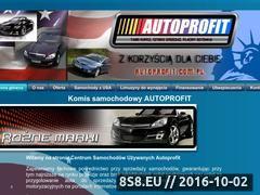 Miniaturka domeny www.autoprofit.com.pl