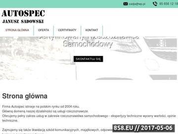 Zrzut strony Autospec - opinie techniczne