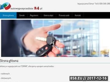 Zrzut strony Wypożyczalnia samochodów - autolawety, busy oraz lawety