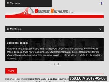 Zrzut strony RENOMET RECYKLING Sp. z o.o. części samochodowe