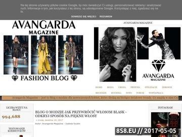 Zrzut strony Blog o Modzie Avangarda Magazine