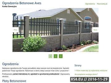 Zrzut strony Ogrodzenia betonowe Aves