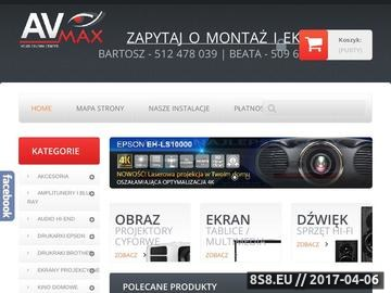 Zrzut strony Avmax.pl - Optoma HD91 LED