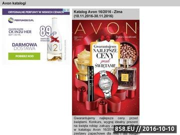 Zrzut strony Kosmetyki Avon