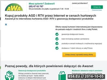 Zrzut strony Hurtownia internetowa AGD i RTV