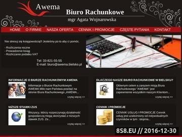 Zrzut strony Firma oferuje usługi rachunkowe oraz księgowe