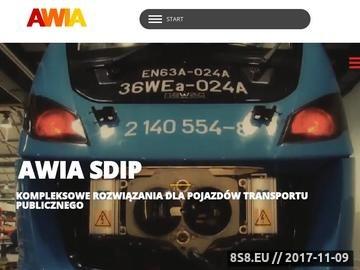 Zrzut strony Monitoring pojazdów AWIA