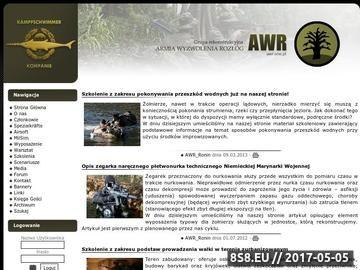 Zrzut strony AWR On-Line - Airsoft MilSim Rekonstrukcja