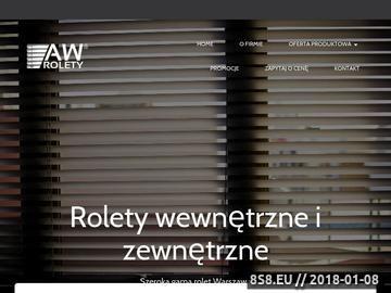 Zrzut strony Markizy Warszawa - AW Rolety