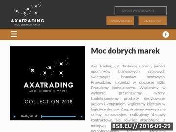 Zrzut strony Upominki reklamowe Cacharel - Axa Trading