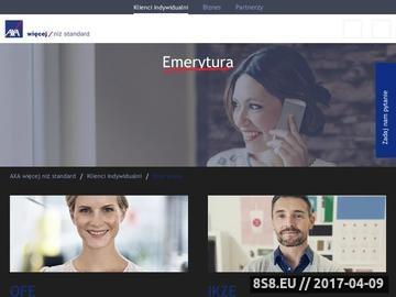 Zrzut strony Emerytura w OFE