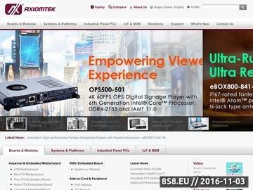 Zrzut strony Axiomtek Polska Sp. z o.o. | Komputery, monitory i obudowy przemysłowe