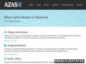 Zrzut strony Biuro rachunkowe AZAS