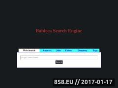 Thumbnail of Babieca Meta Search Engine Website