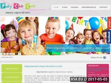 Zrzut strony Baby Club Cafe - urodziny dziecka Łódź