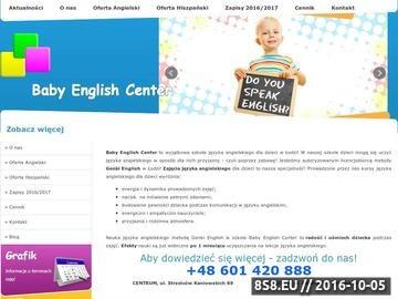 Zrzut strony Szkoła języka angielskiego dla Dzieci w Łodzi