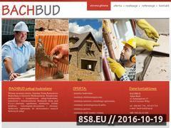 Miniaturka domeny www.bachbud.pl
