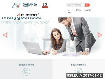 Zrzut strony Badania rynku, analizy rynkowe, badania marketingowe