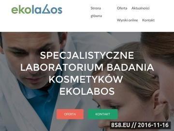 Zrzut strony Ekolabus - laboratorium badania kosmetyków