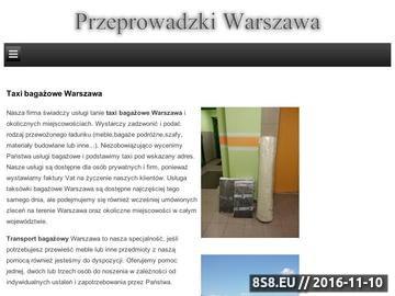 Zrzut strony Usługi transportowe i przeprowadzki mieszkań, firm w Warszawie