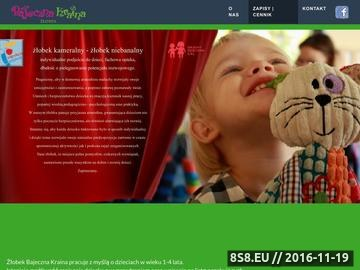 Zrzut strony Żłobek i przedszkole Bajeczna Kraina - Warszawa, Białołęka, Tarachomin