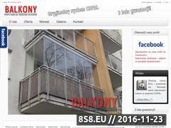 Miniaturka domeny www.balkony-zabudowa.pl