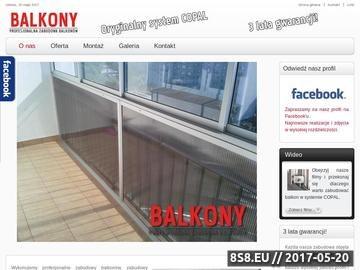 Zrzut strony Zabudowa balkonów, tarasów i loggi w systemie COPAL - Balcopal