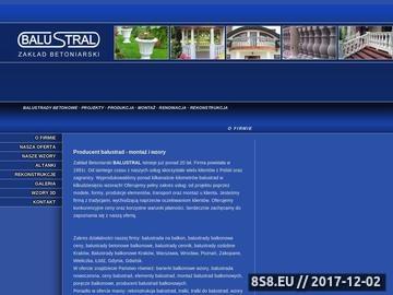 Zrzut strony Zakład betoniarski oferuje balustrady betonowe