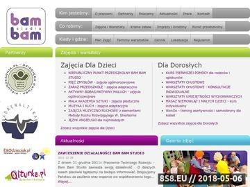 Zrzut strony Zajęcia dla dzieci - Bam Bam Studio - Punkt Przedszkolny