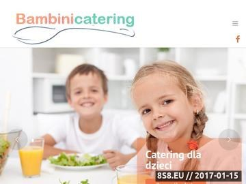 Zrzut strony Bambini Catering