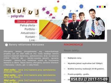 Zrzut strony Banery reklamowe Warszawa