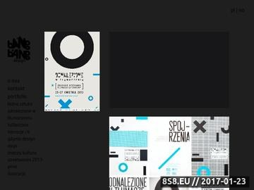 Zrzut strony Studio Graficzne Bang Bang Design