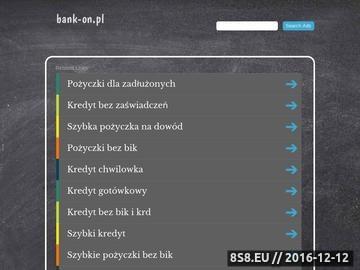 Zrzut strony Bank-on.pl - pożyczki