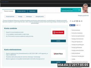 Zrzut strony Banki Warszawa