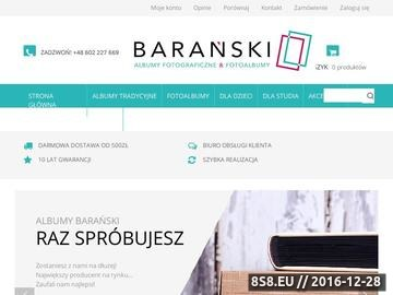 Zrzut strony Barański - tradycyjne albumy ślubne