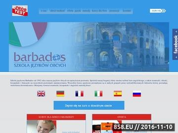 Zrzut strony Barbados - kurs angielskiego