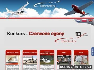 Zrzut strony Bartolini Air -wynajem samolotow,szkolenia lotnicze,lodz.