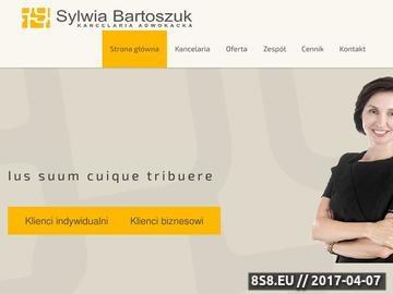 Zrzut strony Kancelaria adwokacka w Krakowie - Sylwia Bartoszuk