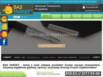 Zrzut strony BAS Target testowanie i recenzowanie produktów