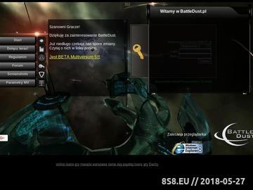 Zrzut strony BattleDust.pl