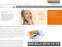 Miniaturka domeny www.bauder.pl