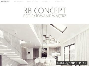 Zrzut strony BB Concept Projektowanie wnętrz