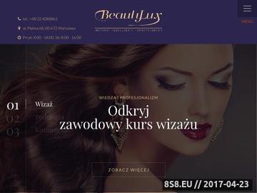 Zrzut strony Instytut Kształcenia Kosmetycznego Beauty Lux