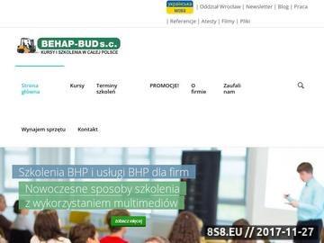 Zrzut strony Behap - szkolenia BHP