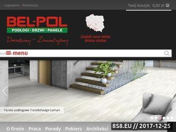 Zrzut strony Podłogi z litego drewna Firmy Bel-Pol.