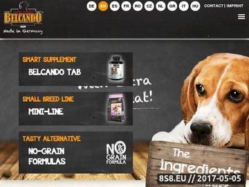 Zrzut strony BELCANDO - profesjonalna karma dla psów