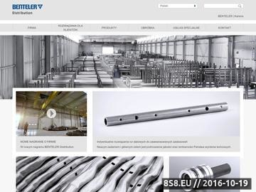 Zrzut strony Benteler Distribution Poland - rury, profile, pręty