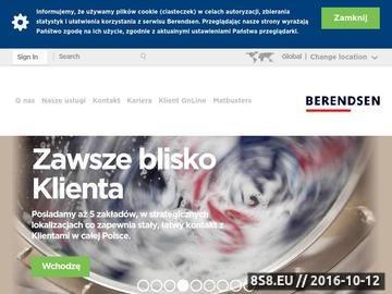 Zrzut strony Berendsen - czyściwa przemysłowe