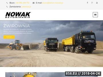 Zrzut strony Nowak Usługi sprzętem budowlanym