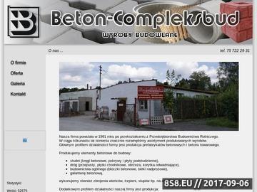 Zrzut strony BETON-COMPLEKSBUD SP. Z O.O. wyroby betonowe